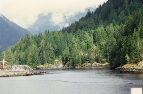 Entrance to Princess Louisa Inlet