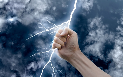 Hand With Lightning