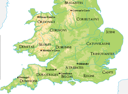 Southern Britain Map New